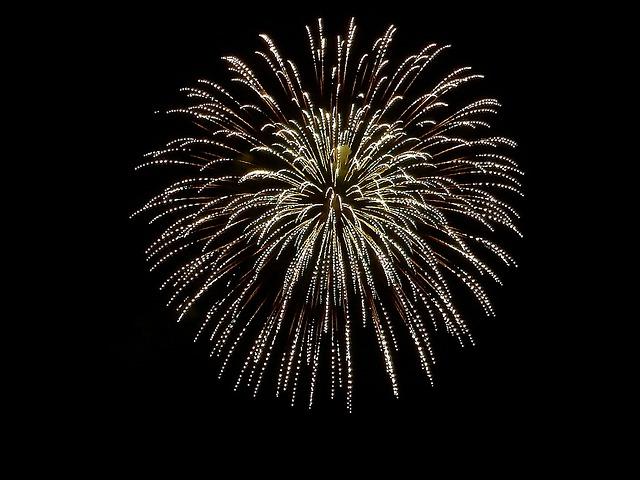 横浜開港祭で花火を見る2016