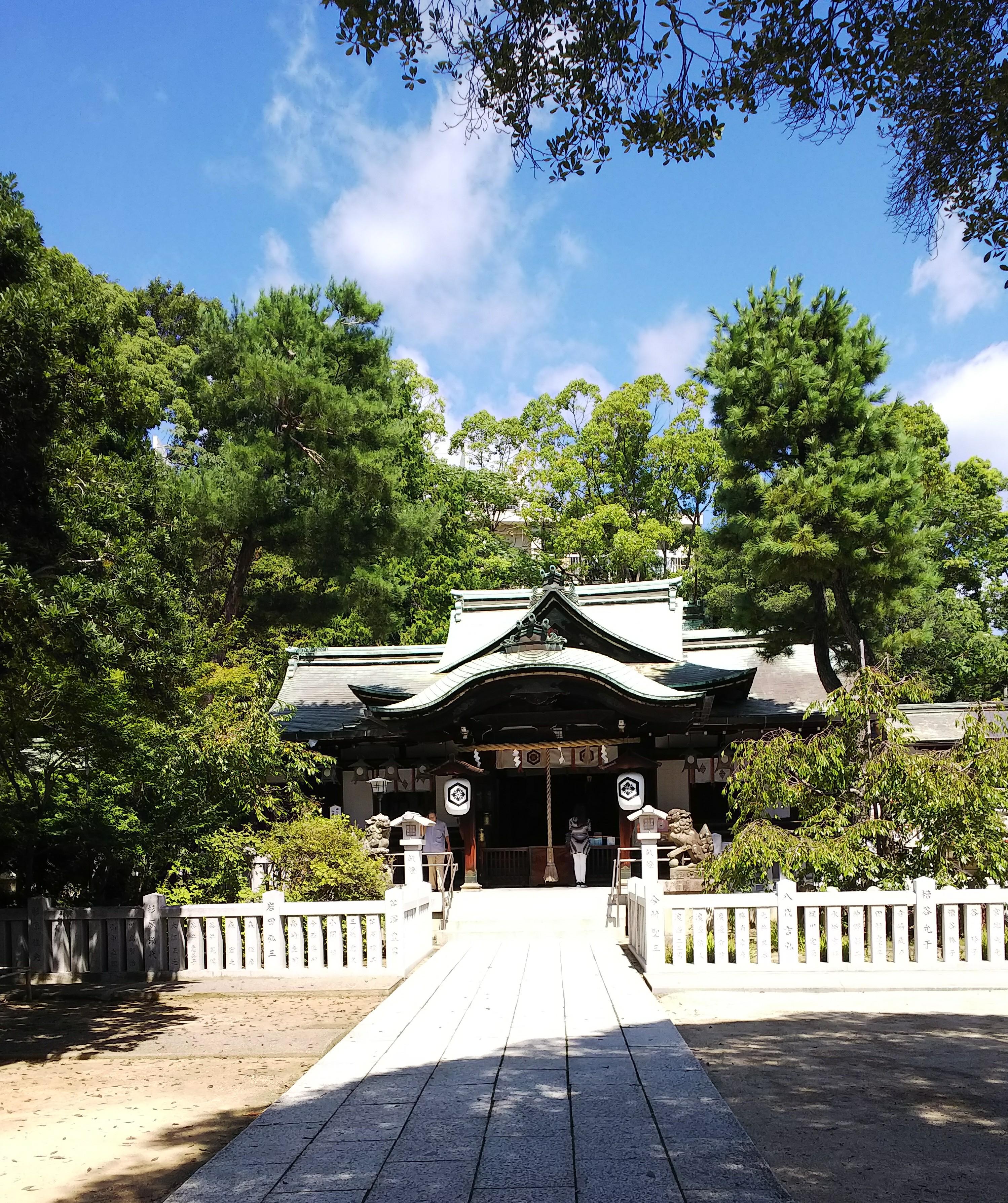 2020年 日本の正月風景  芦屋神社付近