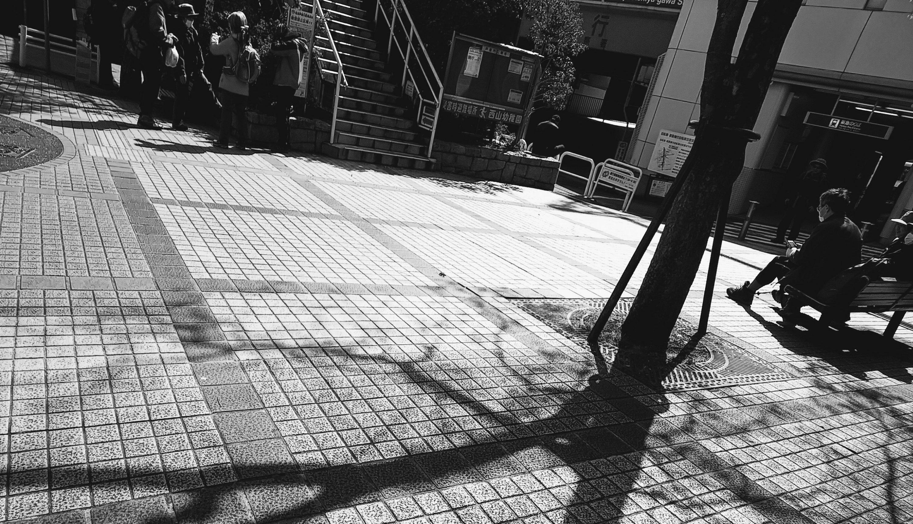 2020年3月 外出自粛の週末!!芦屋川駅周辺は人がまばら!!